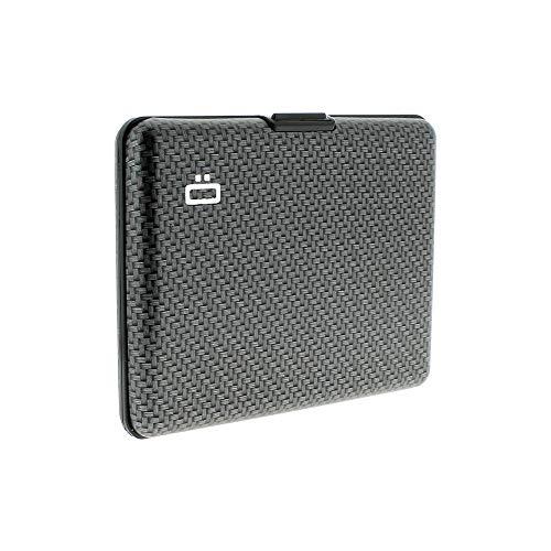 ÖGON Big Stockholm Aluminium-Kartenetui Geldbörse Brieftasche Etui Wallet Portemonnaie für Kreditkarten EC-Karten oder Visitenkarten - Carbon
