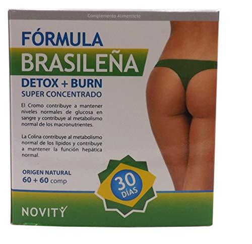 Formula effetto detox brasiliano che purifica il corpo e brucia grassi naturali termogenici potenti per perdere peso, soppressore dell'appetito bruciagrassi, dimagrimento con tè verde, guaranà, L-carnitina, cromo, colina e altro. Effetto veloce