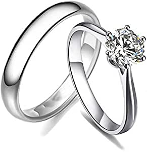 Dividiamonds MOM Finger Ring 14k Two Tone Gold Finish 925 Silver Birthday Ring with Cubic Zirconia
