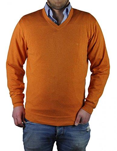 Redmond - Herren Pullover mit V-Ausschnitt in verschiedenen Farben (Art.Nr.: 600) Orange (204)