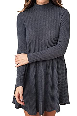 New front Femme Pull Robe Automne Veste Tricot Pull-over Ouverture Top à Manches Longues