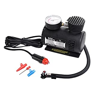 Ferrell 300 PSI Mini Air Compressor 12V Car Auto Portable Pump Tire Inflator w/Gauge New