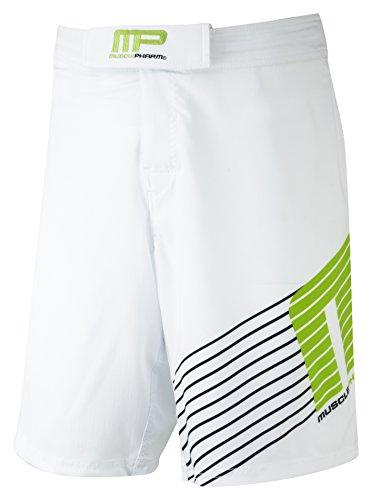 Muscle Pharm Herren Textilbekleidung Printed Shorts White_421