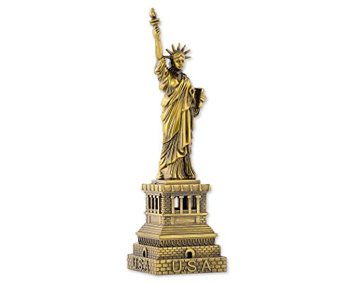 DSstyles Statue of Liberty Modell Freiheitsstatue Metallstatue Freiheitsstatue Figur für Souvenirs - 15 cm