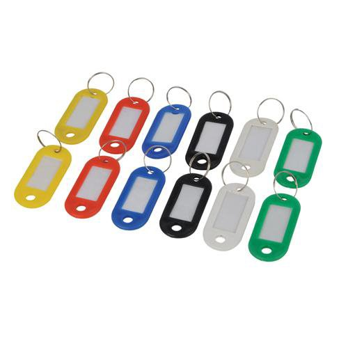 Qty 12 - Master Key Rings - Markable Tabs - Range Of Colours by Cablefinder