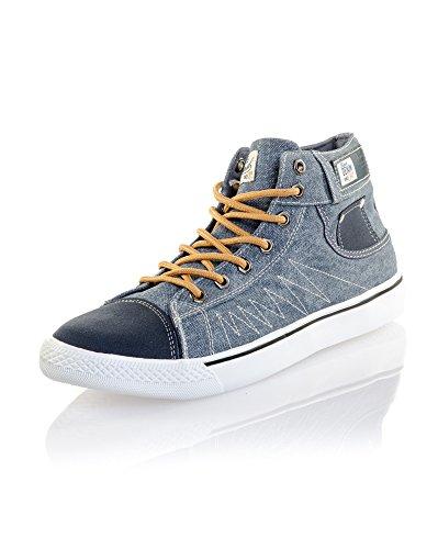 BLZ Jeans - Baskets Montantes Denim Bleues Bleu