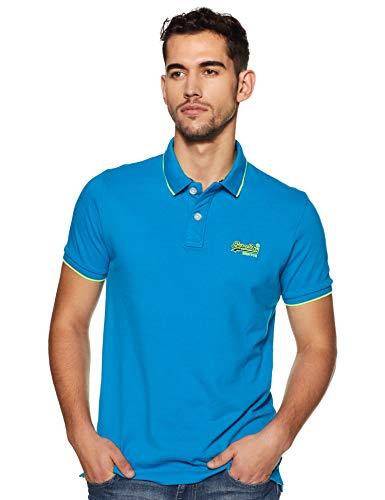 Superdry Herren Hyper Classic Pique Polo Poloshirt, Blau (Hawaiian Blue S2Y), XL (Polo-shirt Hawaiian)