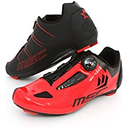 MSC Bikes Aero Road Zapatillas, Unisex Adulto, Rojo, 45