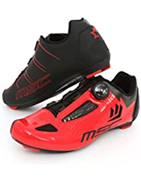 MSC Bikes Aero Road Zapatillas, Unisex Adulto, Rojo, 44