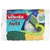 Vileda - 131892 - Eponge à Récurer - Slalom Power - 2 Pièces - Lot de 3