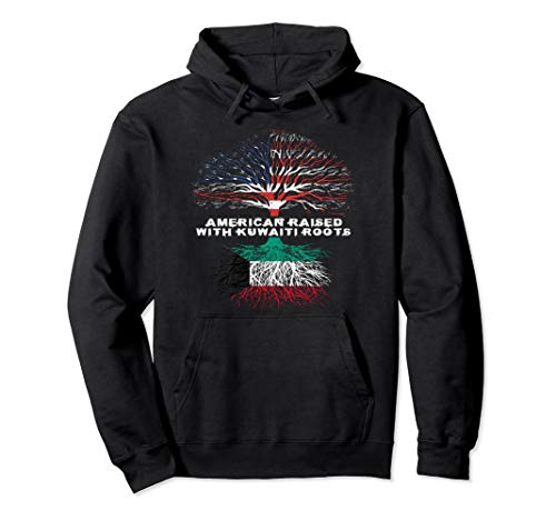 American Raised with Kuwaiti Roots Kuwait  Pullover Hoodie -