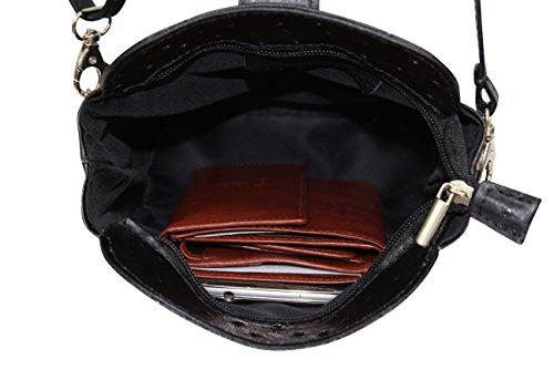 AMBRA Moda - Borsa a tracolla Donna Marrone cognac