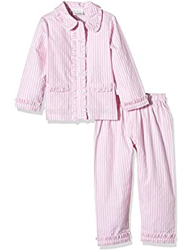 Rachel Riley Striped Frill Pyjamas, Pigiama Bambino