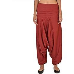 Skirts & Scarves Women's Cotton Casual Harem / Yoga Pants / Pajama (Maroon)