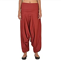 Skirts & Scarves Womens Cotton Casual Harem / Yoga Pants / Pajama (Maroon)