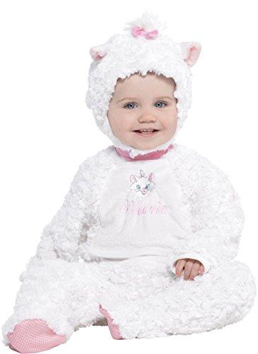 Aristocats Marie Kostüm - Disney Baby DCMAR-RPMO-18 - Kostüm - Marie - Fleece Strampler mit Kapuze, weiß