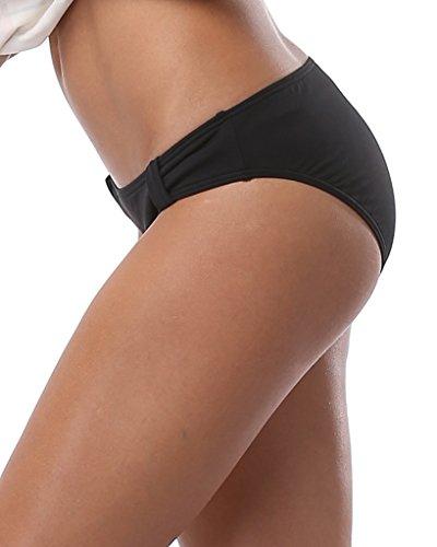 Alove - Pezzo sotto bikini -  donna Black low waist