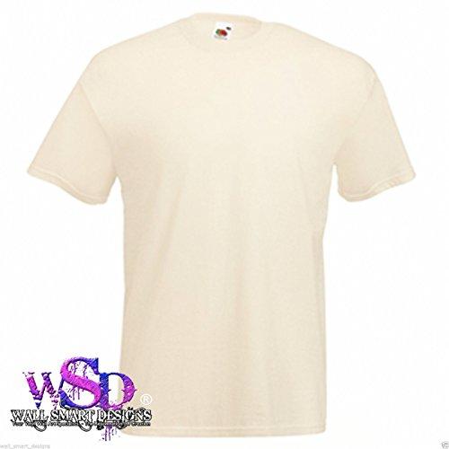 FRUIT OF THE LOOM herren einfarbig unbedruckt Valueweight t-shirt top s-5XL NEU t-SHIRT - Natürlich, Siehe Beschreibung (Farbkarte Siehe)