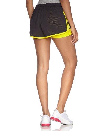adidas Short RSP Dual pour femme Noir/jaune