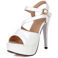 Mode Frauen Schuhen mit hohen Absätzen/ sexy Kreuz Fisch Mund Schuhe/Joker-Sandalen-A Fußlänge=22.3CM(8.8Inch)