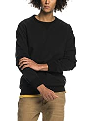 Scotch & Soda Crewneck In Soft Felpa Quality with Special Sleeve Insert, Sweat-Shirt Homme