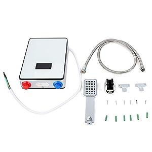 220V 6500W Calentador de Agua Caliente Eléctrico Instantáneo sin Tanque para Baños Hogar Ducha con Protección contra la Calefacción Sistema de Agua Caliente para baño Cocina Lavado doméstico