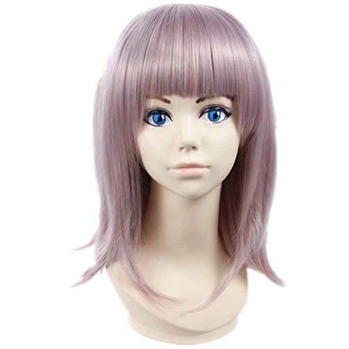 COSPLAZA Kostüm Perücke gewelltes kurzes Haar mit glattem Ponyfrisur Reasoning Videospiele Animation Rollenspiele Cosplay Perücken für (Weibliche Videospiel Kostüme)