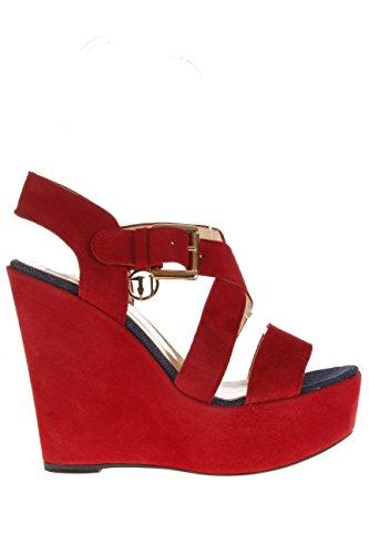 Trussardi Jeans Femme Sandale fonds calage 79s001 35 santal fonds calage 13 cm Rouge - rouge