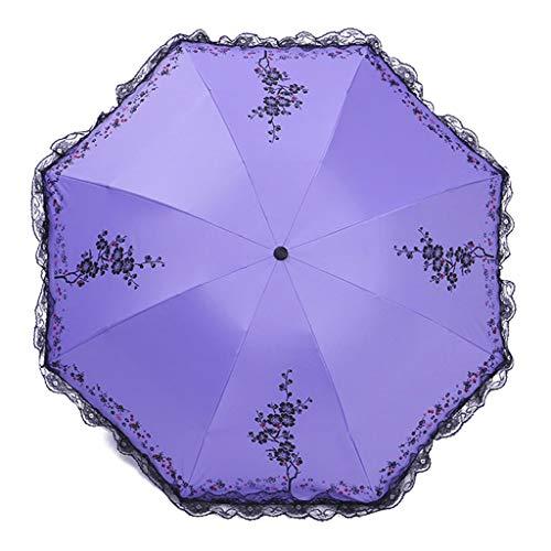 Ombrello da viaggio ombrello da viaggio ombrello da donna (viola) ombrello da viaggio ombrello parasole compatto (color : purple)