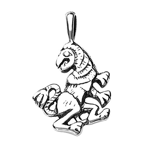 Peora 925 Sterling Silver Leo Zodiac Power Pendant Horoscope for Men & Women Unisex Oxidised