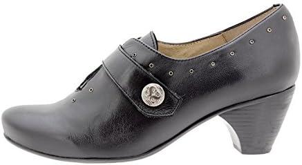 PieSanto Calzado Mujer Confort de Piel 9402 Zapato Velcro Casual Cómodo Ancho