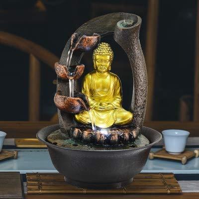 Desktop Glückliche Ornamente Wasserbrunnen Wohnzimmer Luftbefeuchter Südostasien Dekoration Buddha Statue Wasserspiele