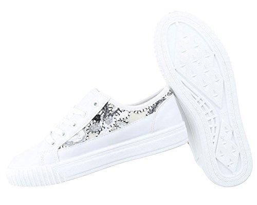 Damen Freizeitschuhe Schuhe Sportschuhe Turnschuhe Sneaker Laufschuhe Schwarz Schwarz Weiß 36 37 38 39 40 41 Modell Nr1 Weiß