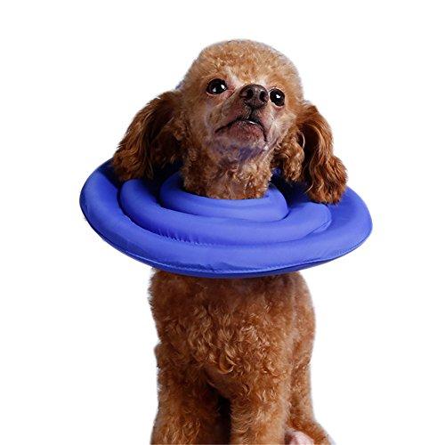 Yunt Haustiere Halskrause Wundheilung Medical Cover Anti-bite-lick Nackenschutz Kragen für Hunde Katzen S/M/L/XL