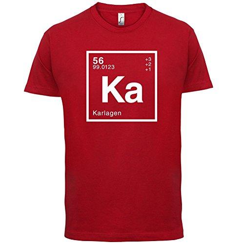 Karla Periodensystem - Herren T-Shirt - 13 Farben Rot