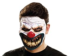 Idea Regalo - My Other Me Viving Costumes MOM02351 Maschera da clown cattivo, motivo, adulti, taglia unica