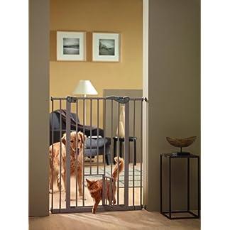 Savic 107 cm Dog Barrier with Cat Door 12