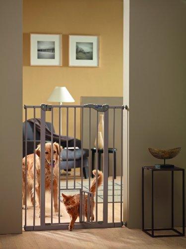 Savic 107 cm Dog Barrier with Cat Door 1