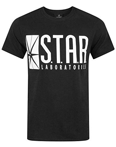 DC Comics Herren The Flash Star Labs T-Shirt Medium Schwarz -