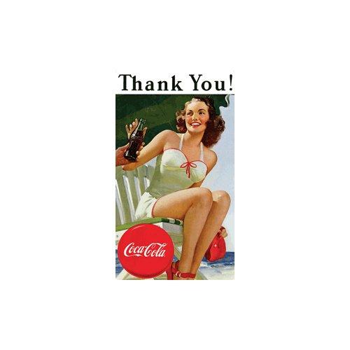 Preisvergleich Produktbild Coca-Cola Danke Tin Kühlschrankmagnet Schwimmen Schönheit
