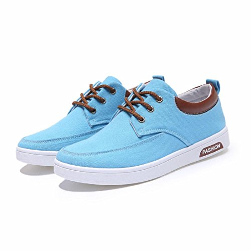 Hommes Chaussures de loisirs Mode Respirant portable Courir Chaussures plates Blue