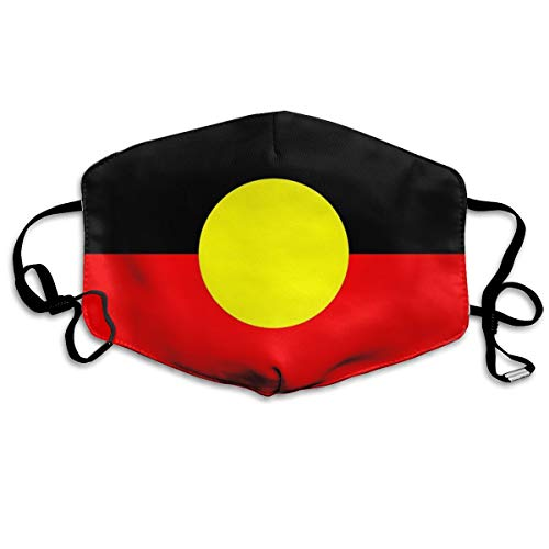 Anti-Dust Anime Cotton Mask Aboriginal and Torres Strait Islander Flags Mardi Gras Cute Face Mouth Mask for Kids Teens Men Women