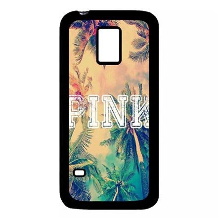 Samsung Galaxy S5 Mini Durable Protector Case, Samsung S5 Mini Ultra Thin Google Phone Casing Abstract Pink Holiday Theme