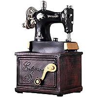 Máquina de coser de resina de la vendimia Modelo Retro Máquina de Coser Decorativa Miniatura Estatuilla