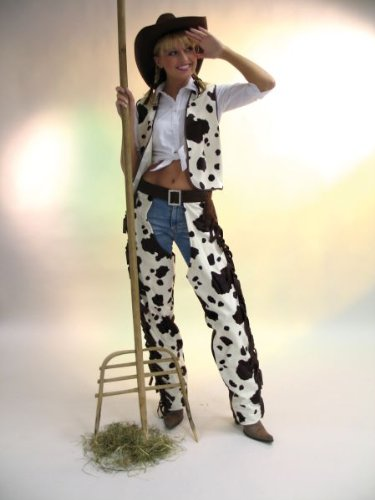 Festartikel Müller Karneval Damen Kostüm Cowboy Weste Buffalo Western Größe 36/38