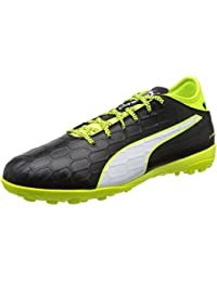 PUMA MEN'S EVOTOUCH 3 TT FOOTBALL TRAINERS - BLACK/WHITE/YELLOW
