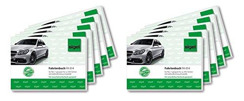 Sigel FA614/10 Fahrtenbücher für PKW, A6 quer, 40 Blatt, 10er Pack
