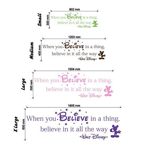 Wenn Sie glauben, in a Thing–Walt Disney Wandtattoo Zitat (mittel)