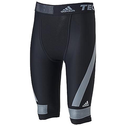 Adidas Men's Techfit Powerweb Short Tights Black Black/Vista Grey S15 Size:XXL