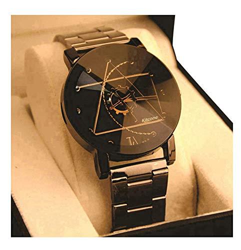 Harbour Analogue Metal Black Strap Diamond Cut Glass Multicolour Dial Women Watch & Girls Watches -LF